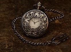 silver classic clock